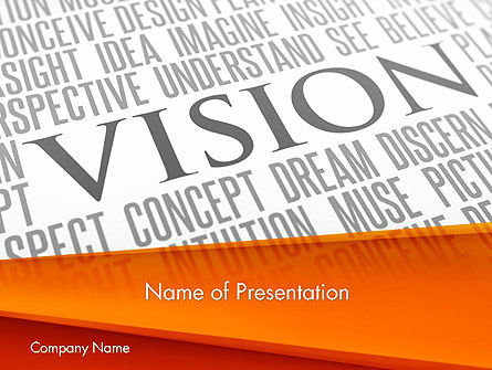 Vision Plan PowerPoint Template, 12577, Business Concepts — PoweredTemplate.com
