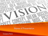 Business Concepts: Vision Plan PowerPoint Template #12577