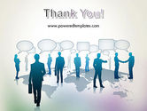 People Silhouettes with Speech Bubbles PowerPoint Template#20