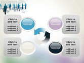 People Silhouettes with Speech Bubbles PowerPoint Template#9
