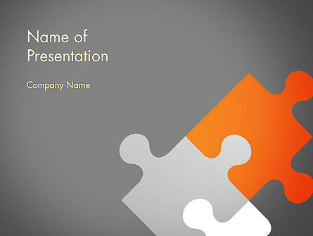 Abstract/Textures: Four Puzzle Pieces PowerPoint Template #12579