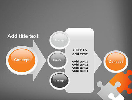 Four Puzzle Pieces PowerPoint Template Slide 17