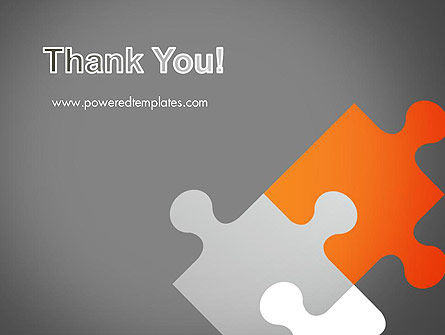 Four Puzzle Pieces PowerPoint Template Slide 20