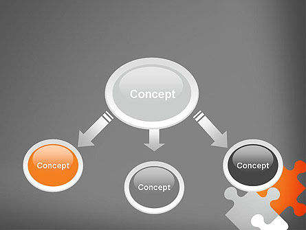 Four Puzzle Pieces PowerPoint Template Slide 4