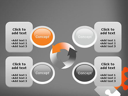 Four Puzzle Pieces PowerPoint Template Slide 9