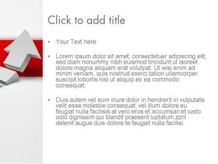 Rising 3D Arrow PowerPoint Template, Slide 3, 12580, Business Concepts — PoweredTemplate.com
