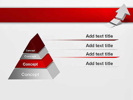 Rising 3D Arrow PowerPoint Template Slide 12