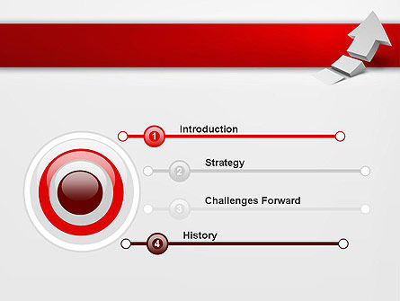 Rising 3D Arrow PowerPoint Template Slide 3