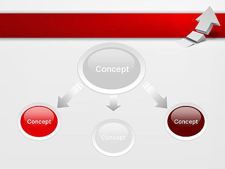 Rising 3D Arrow PowerPoint Template Slide 4