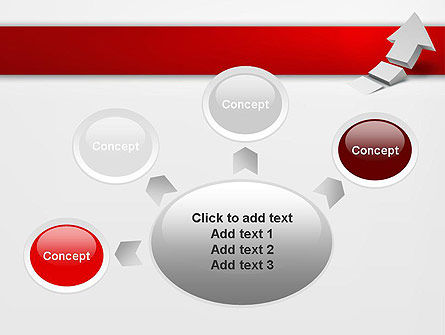 Rising 3D Arrow PowerPoint Template Slide 7