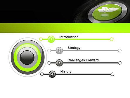 Green Start Engine Button PowerPoint Template, Slide 3, 12581, Technology and Science — PoweredTemplate.com