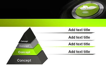 Green Start Engine Button PowerPoint Template, Slide 4, 12581, Technology and Science — PoweredTemplate.com