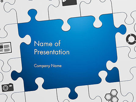 Jigsaw Puzzle Pieces PowerPoint Template, 12582, Education & Training — PoweredTemplate.com