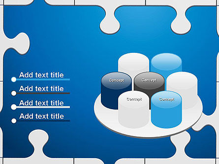 Jigsaw Puzzle Pieces PowerPoint Template Slide 12
