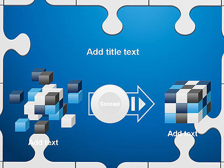 Jigsaw Puzzle Pieces PowerPoint Template Slide 17