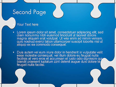 Jigsaw Puzzle Pieces PowerPoint Template Slide 2