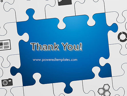 Jigsaw Puzzle Pieces PowerPoint Template Slide 20