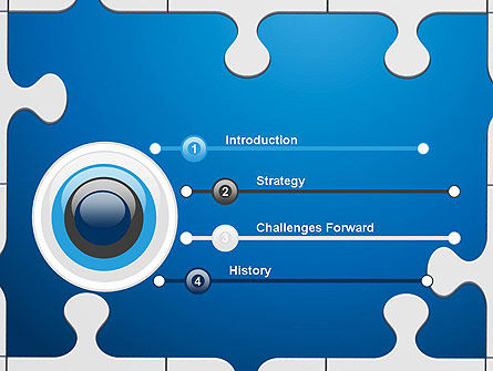 Jigsaw Puzzle Pieces PowerPoint Template, Slide 3, 12582, Education & Training — PoweredTemplate.com