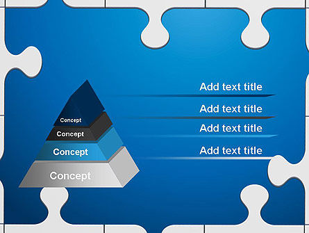 Jigsaw Puzzle Pieces PowerPoint Template, Slide 4, 12582, Education & Training — PoweredTemplate.com