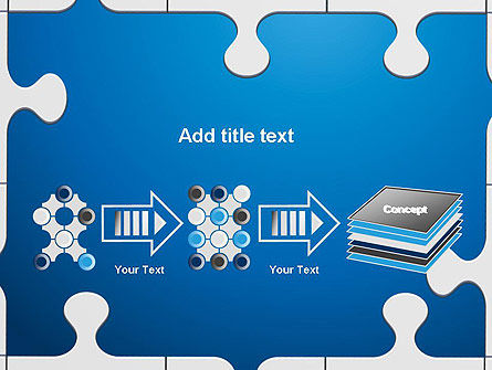 Jigsaw Puzzle Pieces PowerPoint Template Slide 9