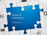 Education & Training: Jigsaw Puzzle Pieces PowerPoint Template #12582
