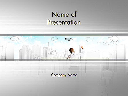 Creating Future PowerPoint Template, 12584, Business Concepts — PoweredTemplate.com