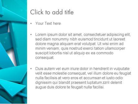 3D Broken Glass Pieces PowerPoint Template, Slide 3, 12585, Abstract/Textures — PoweredTemplate.com