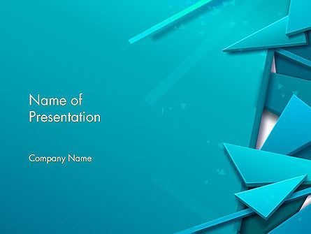 3D Broken Glass Pieces PowerPoint Template, 12585, Abstract/Textures — PoweredTemplate.com