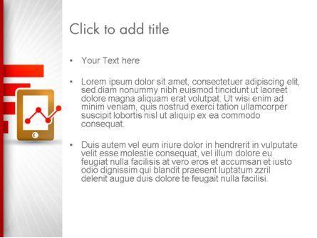 Line Chart on Touchpad PowerPoint Template, Slide 3, 12586, Business — PoweredTemplate.com