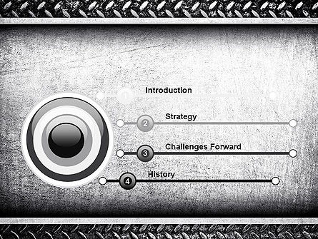 Metal Texture PowerPoint Template Slide 3