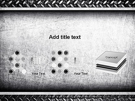Metal Texture PowerPoint Template Slide 9