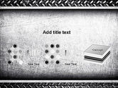 Metal Texture PowerPoint Template#9