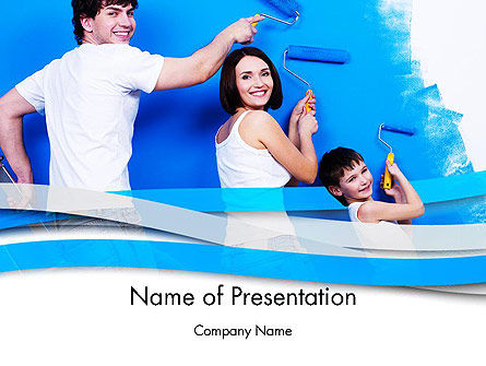 People: People Painting PowerPoint Template #12589