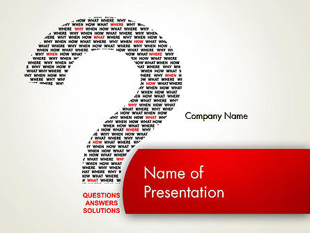 Questions Answers Solutions PowerPoint Template, 12590, Consulting — PoweredTemplate.com