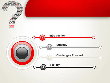 Questions Answers Solutions PowerPoint Template, Slide 3, 12590, Consulting — PoweredTemplate.com