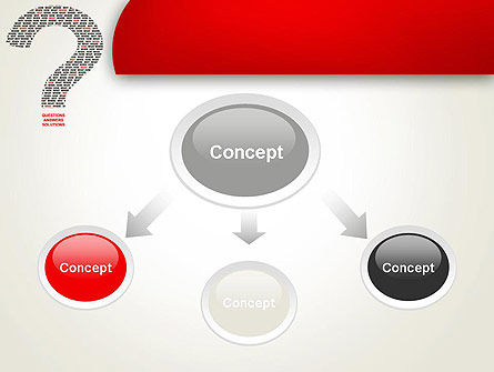 Questions Answers Solutions PowerPoint Template, Slide 4, 12590, Consulting — PoweredTemplate.com
