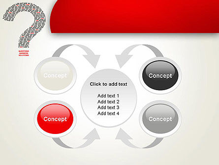 Questions Answers Solutions PowerPoint Template Slide 6