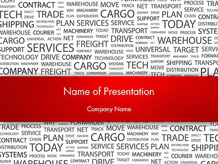 Word Cloud For Logistic Distribution PowerPoint Template, 12592, Careers/Industry — PoweredTemplate.com