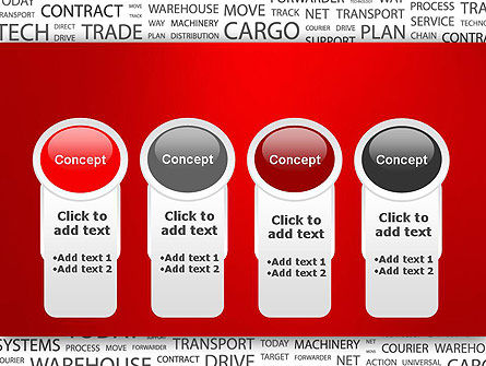 Word Cloud For Logistic Distribution PowerPoint Template Slide 5