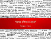 Careers/Industry: Word Cloud For Logistic Distribution PowerPoint Template #12592