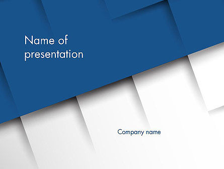 Abstract Square Surfaces PowerPoint Template