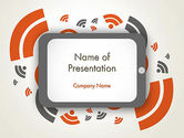 Careers/Industry: Online News Concept PowerPoint Template #12595