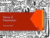 Education & Training: Education Doodles PowerPoint Template #12597