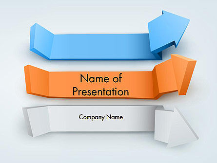 3D: Three-Dimensional Arrows PowerPoint Template #12598