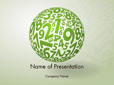 Sphere Of Numbers PowerPoint Template, 12599, Education & Training — PoweredTemplate.com