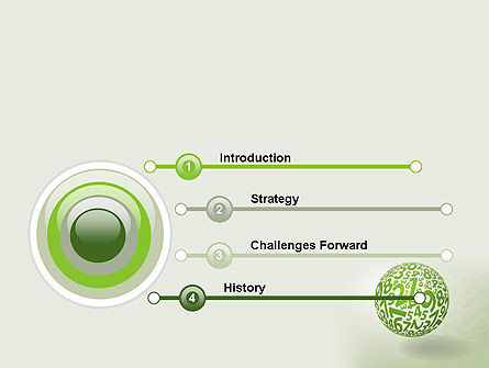 Sphere Of Numbers PowerPoint Template, Slide 3, 12599, Education & Training — PoweredTemplate.com
