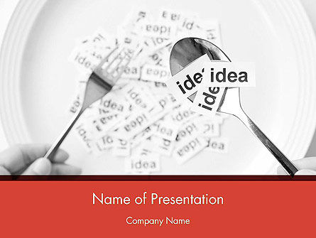 Feeding Brain Ideas PowerPoint Template