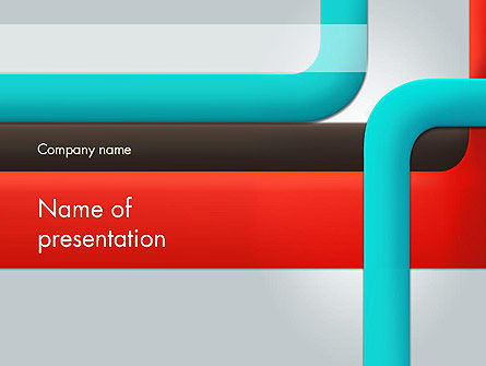 Abstract/Textures: Abstract Colored Lines PowerPoint Template #12601