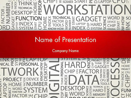 Computer Word Cloud PowerPoint Template