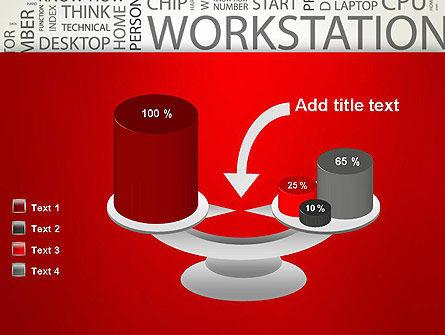 Computer Word Cloud PowerPoint Template Slide 10